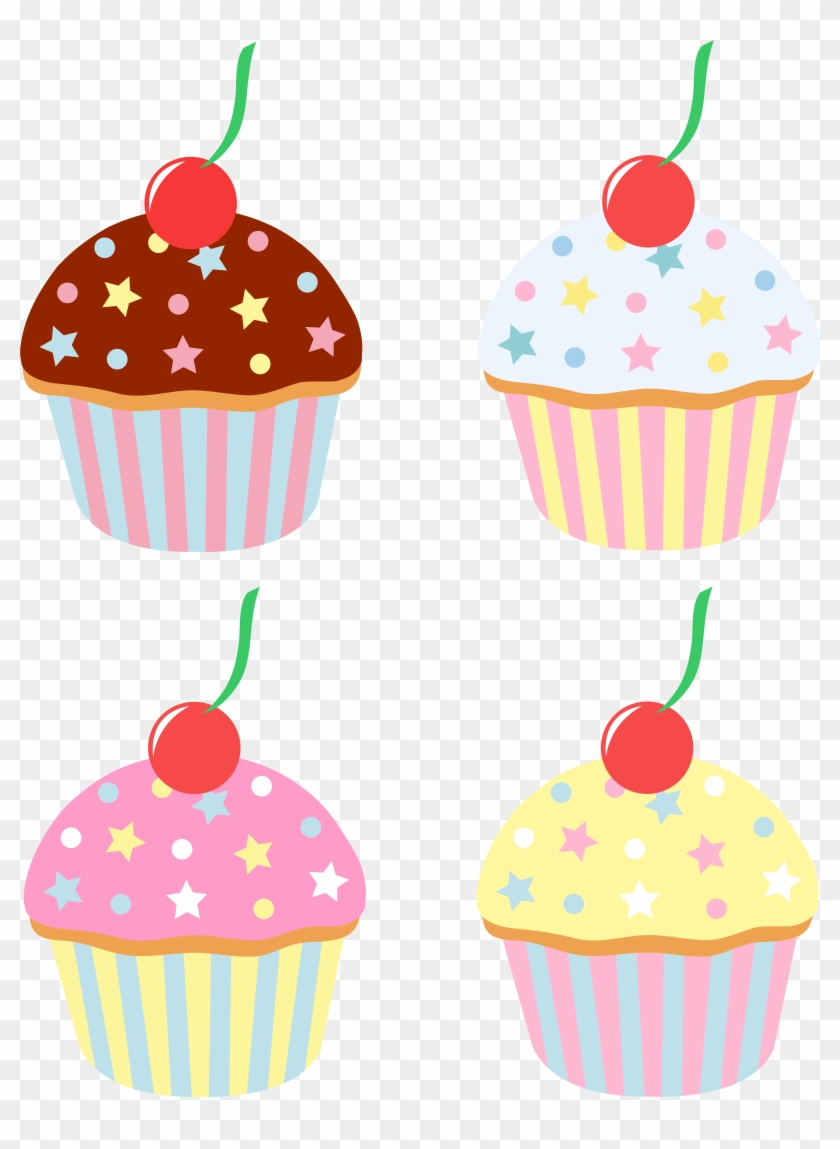 Cupcakes - With - Sprinkles - Clipart - Cupcakes Cartoon Png