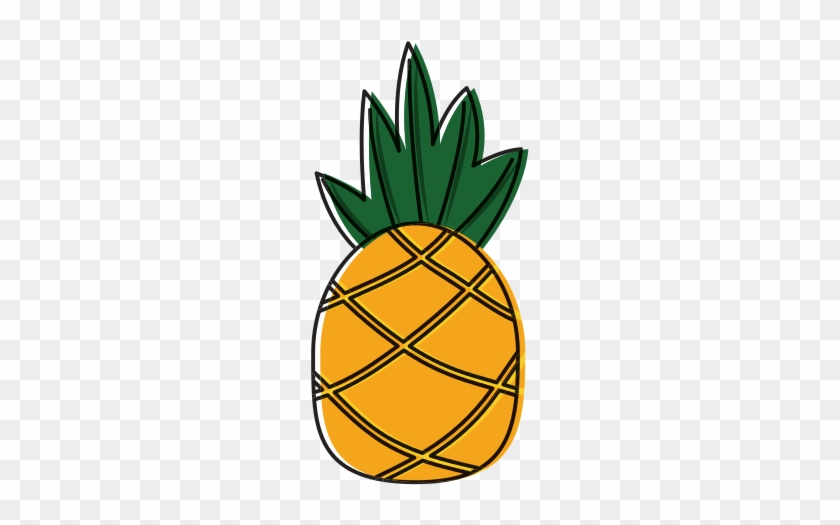 Pineapple Tropical Fruit Icon - Food #421282