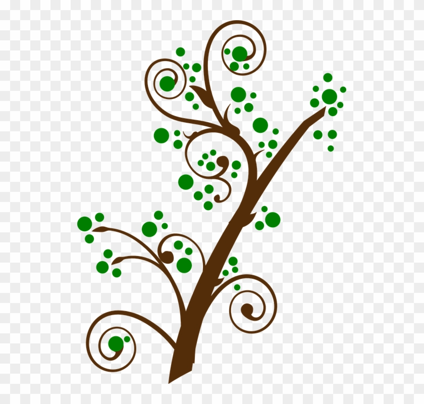 Bloom Tree Cliparts 25, Buy Clip Art - Tree Branches With Leaves Clipart #421386