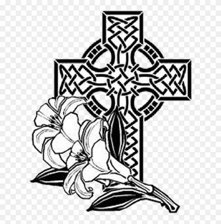 Easter Sunday April - Cross With Flowers Coloring Pages ...