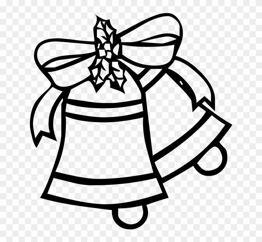 Christmas Bells - Christmas Bells Outline Png #421975