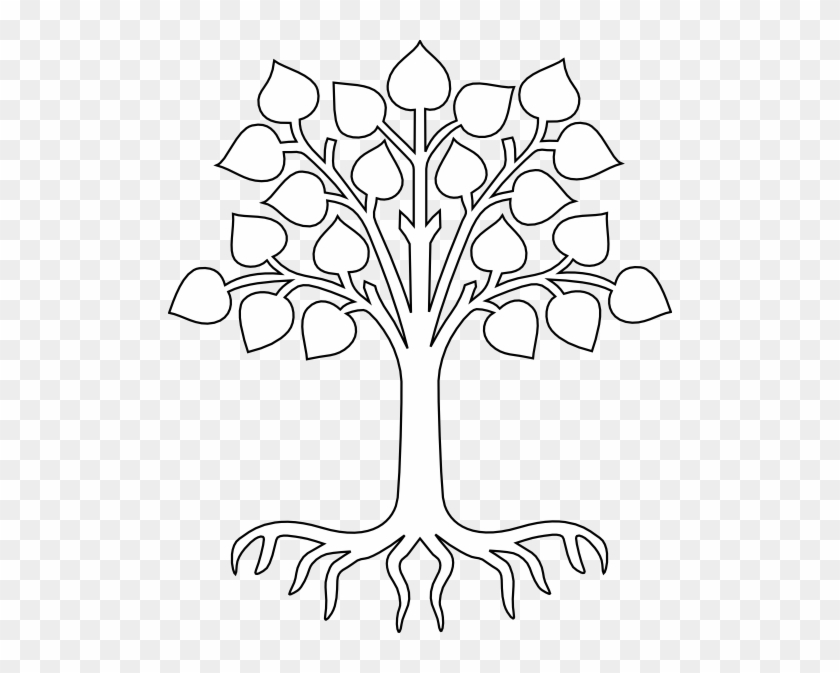 Simple Tree Drawings With Roots Images Pictures Becuo - Tree Outline With Roots #422335
