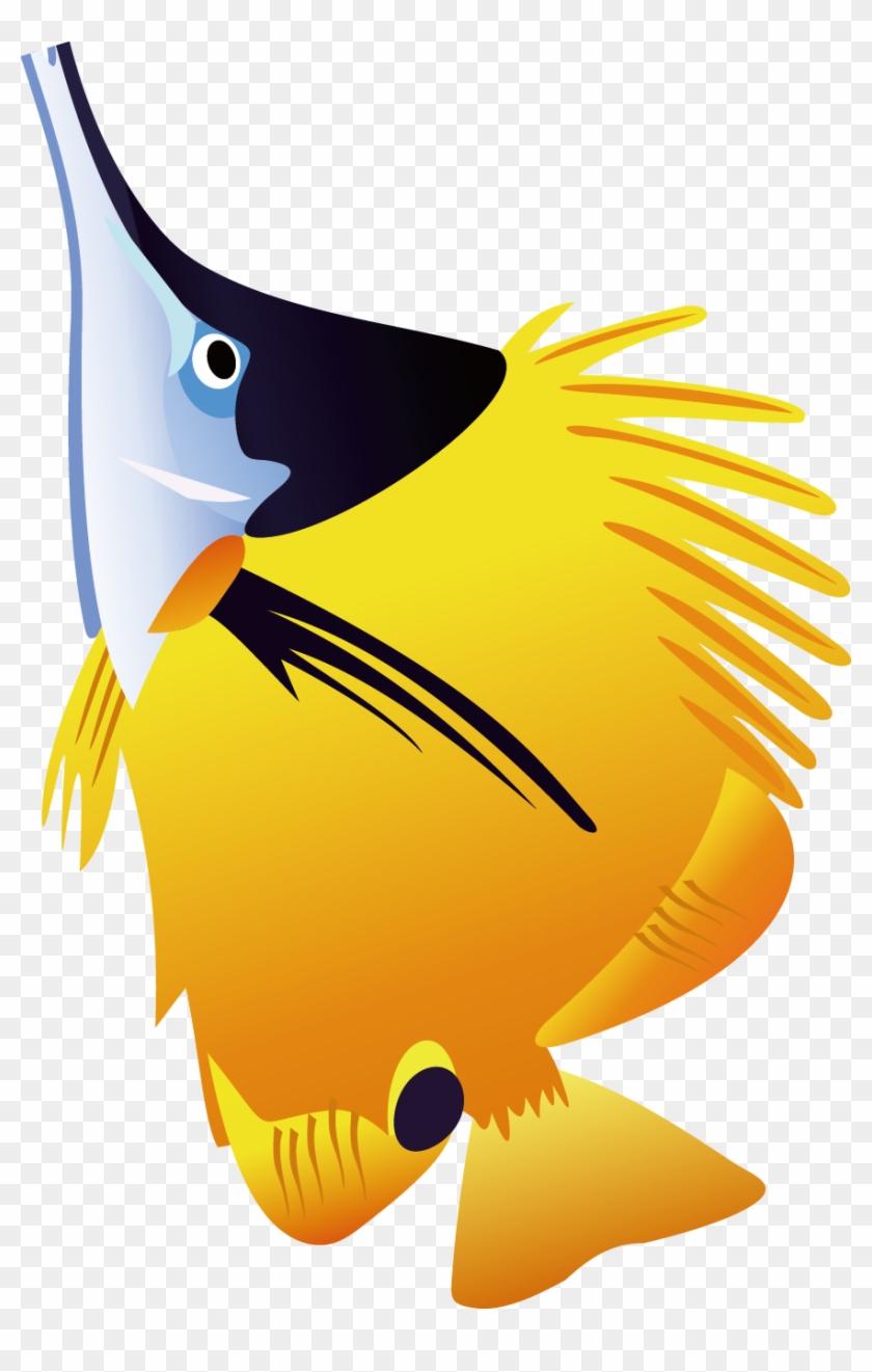 Fish Clip Art - Tropical Fish Shower Curtain #422384