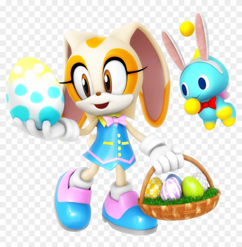 Cream The Rabbit Easter Outfit Render By Nibroc-rock - Sonic The Hedgehog Cream #422447