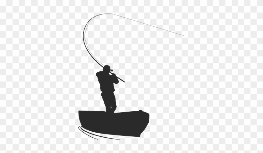 Fisherman In Boat Silhouette Free Transparent Png Clipart Images Download
