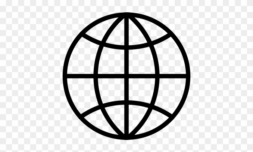 Internet, Modem, Network Icon - Globe Global Shipping Icon Wall Vinyl Art, Vinyl Color #423386