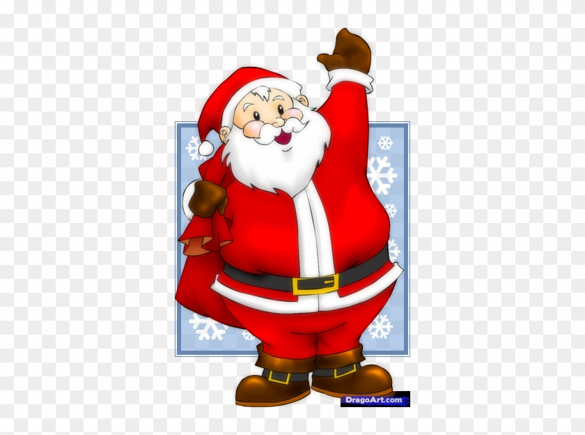 Learn How To Draw An Easy Santa Santa Claus Transparent Free