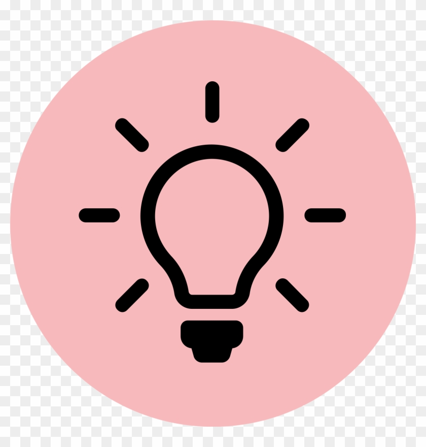 Light Bulb Icon Red - Light Bulb Icon Png #423554