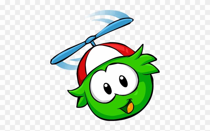 Green Puffleflying2 - Club Penguin Puffles Gif #423635