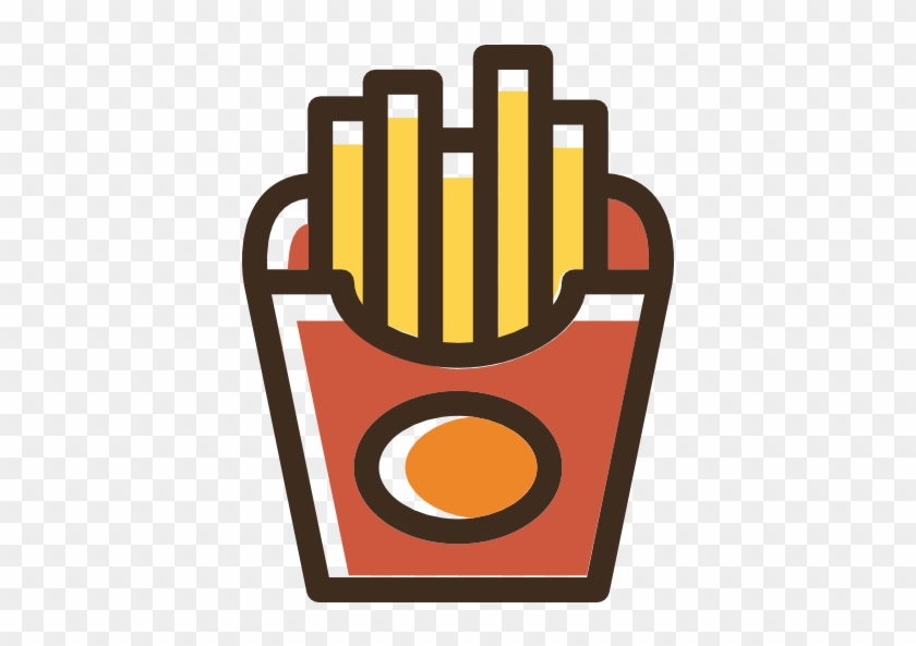 French Fries Free Icon - French Fries Logo Png #424294