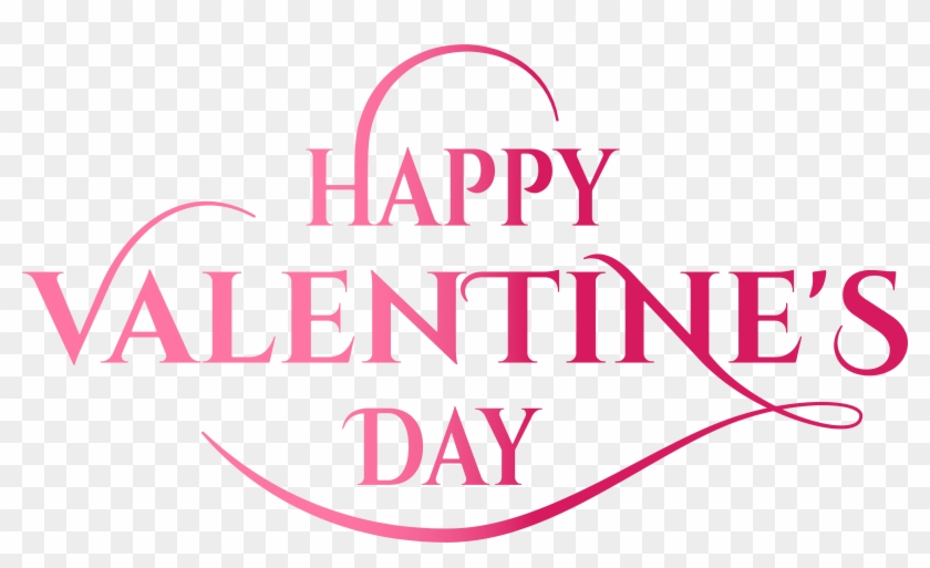 Happy Valentines Day Text Png Free Transparent Png Clipart Images