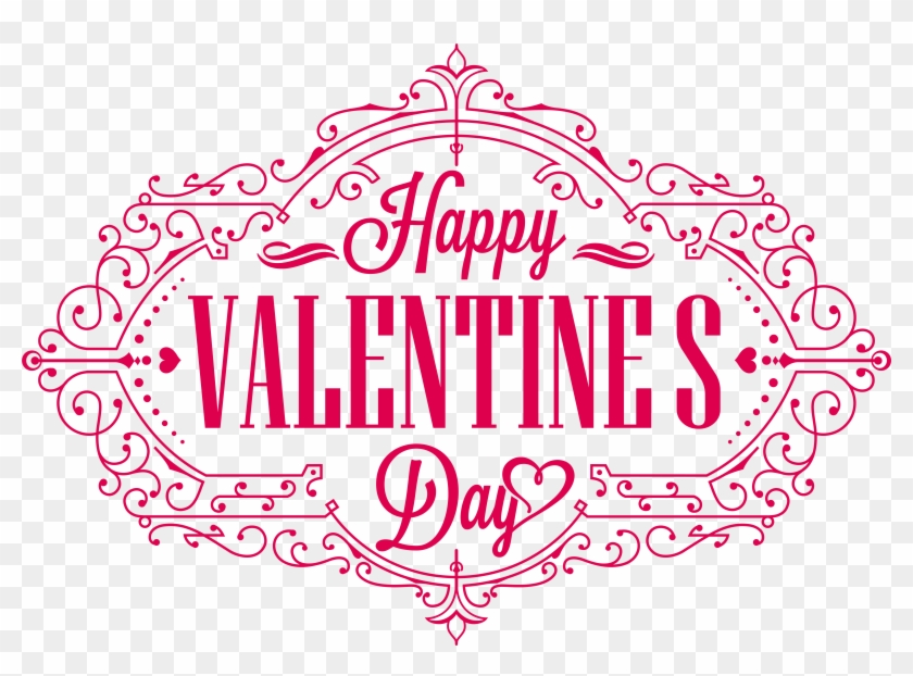 Valentine S Day Happy Valentines Day Text Png Free Transparent