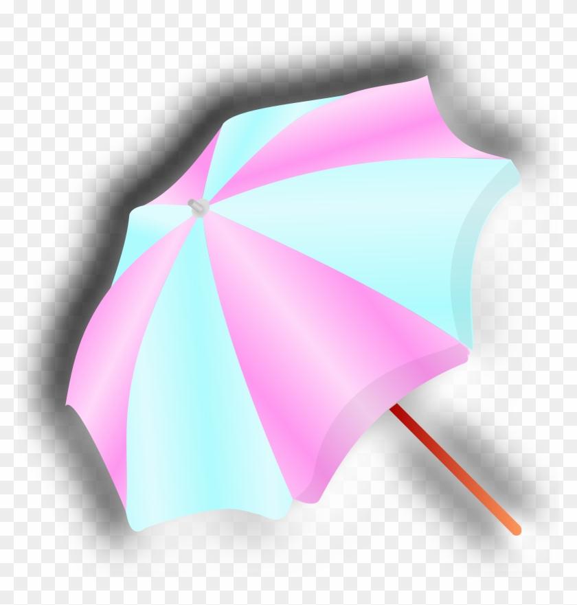 Clip Art Tags - Guarda Chuva Azul E Rosa Png #424947