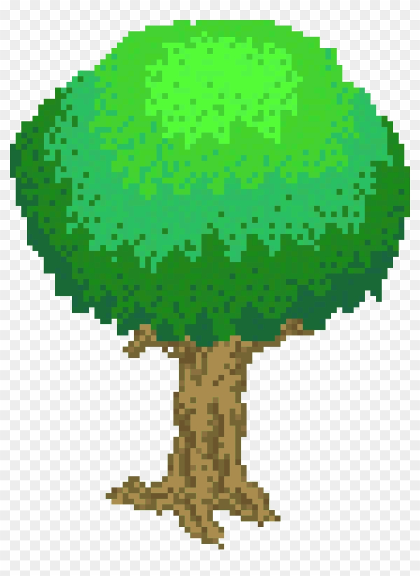 This Free Icons Png Design Of Pixel Tree Light Green - Pixel Tree Png #424971