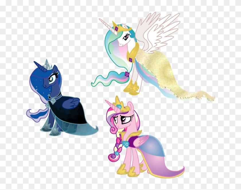 Royal Alicorns Gala Dresses By Lottapotatosalad