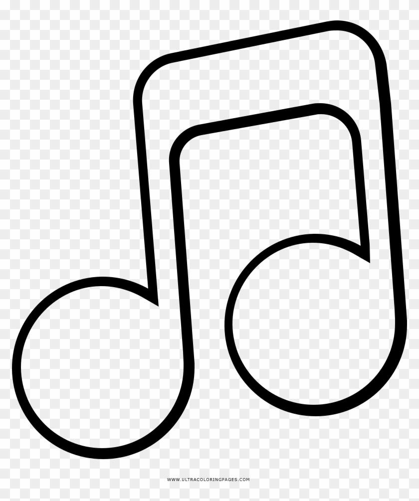 Musiknoten Ausmalbilder Dibujos De Notas Musicales Free