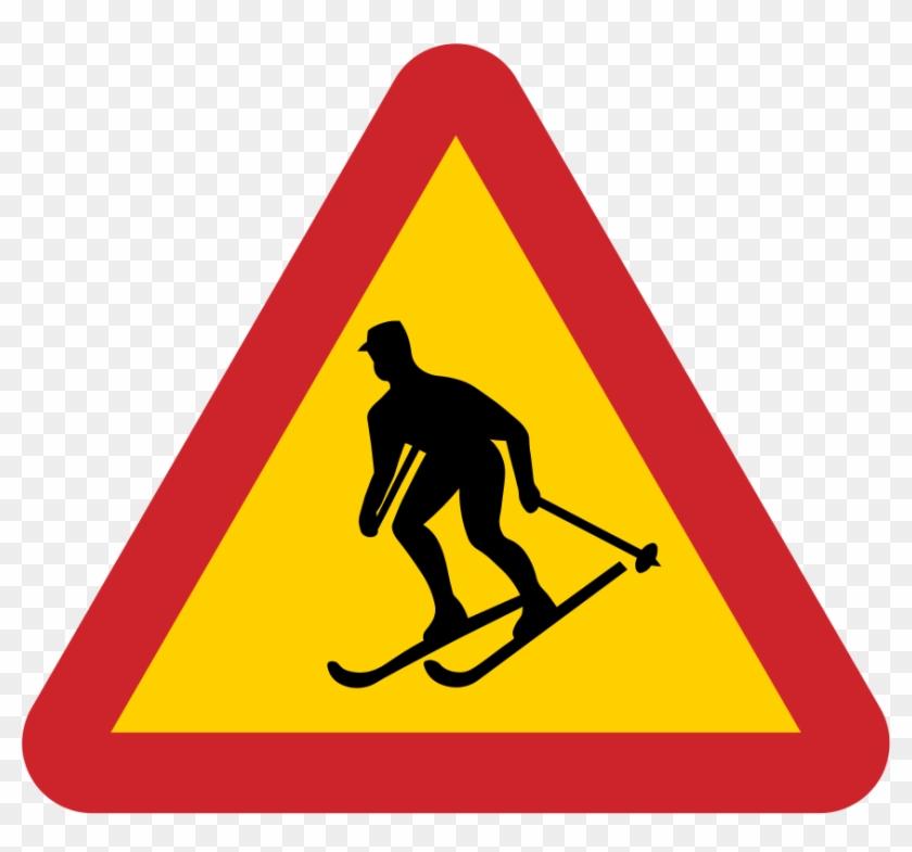 Sweden Road Sign A17 - Dangerous Curve Ahead Sign #425711