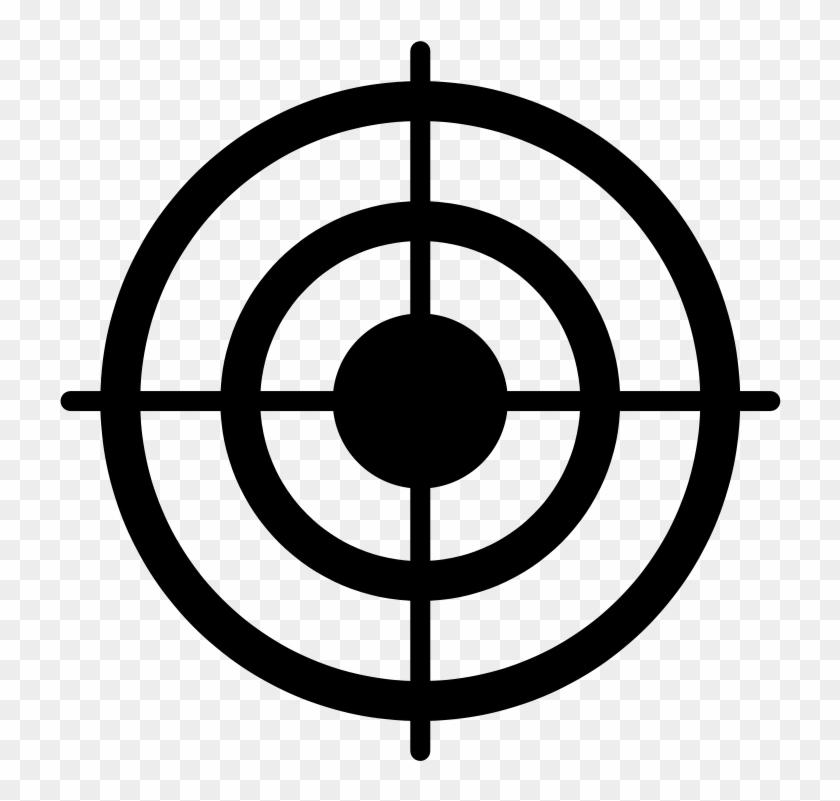 Zielscheibe Clipart - Bullseye Clipart #425813