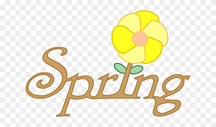 Text Spring, Flower, Text - Cartoon Pictures Of Spring Season #425847