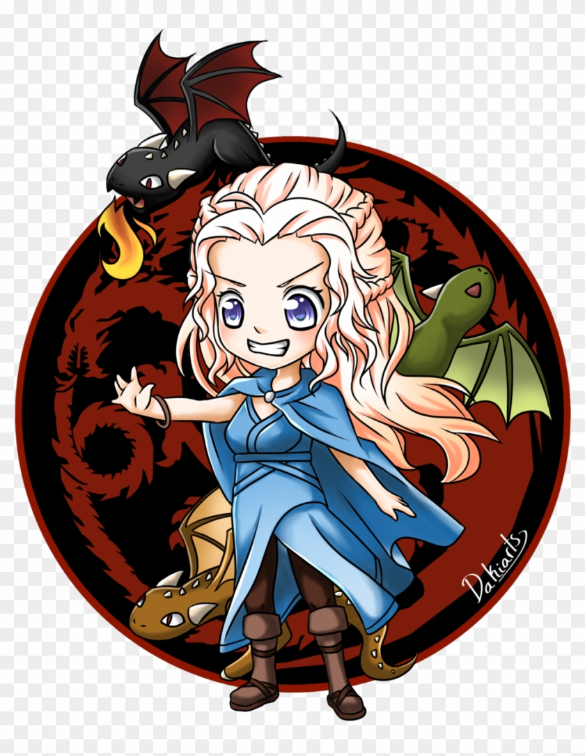 Chibi Daenerys By Dakiarts - Game Of Thrones Daenerys Chibi #426093