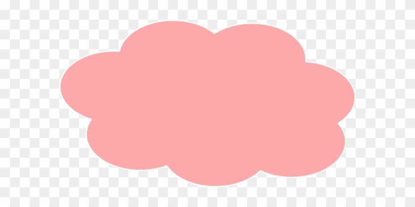 Light Pink Clouds Clip Art At Clker - Pink Cloud Clipart #426379