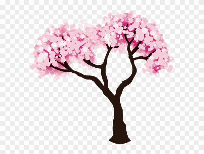 Cherry Tree Clipart Transparent - Easy Cherry Blossom Tree Drawing #426581