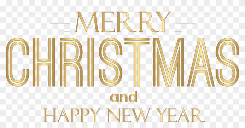 Merry Christmas And Happy New Year Text Png Clip Art - Merry Christmas Text Png #426694