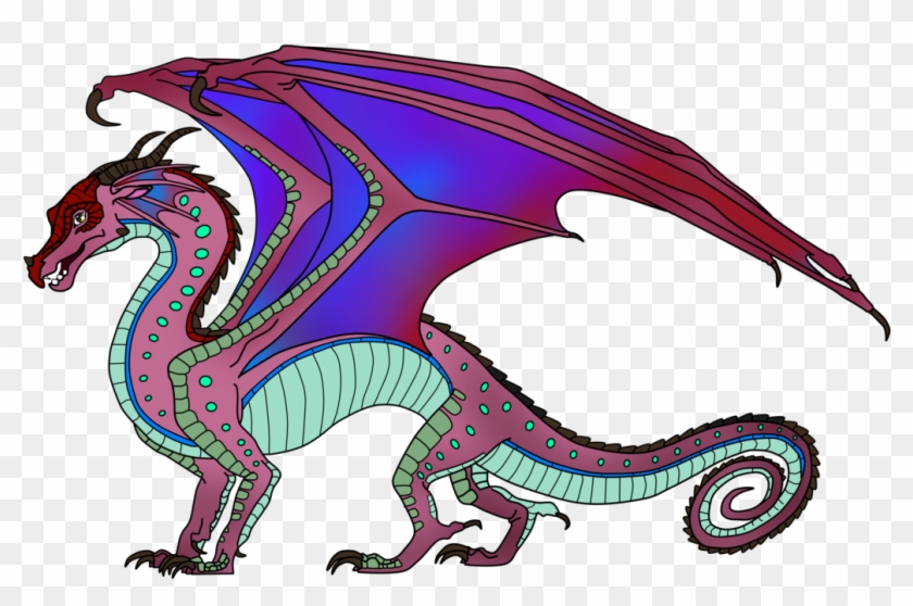 Rain Skywing Hybrid For Freewingedwulf By Lunarnightmares981 Wings Of Fire Hybrids Free Transparent Png Clipart Images Download