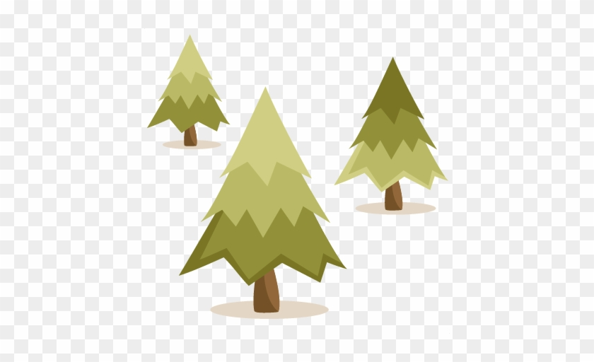 Cute Pine Tree Clipart - Pine Tree Cut File #427047