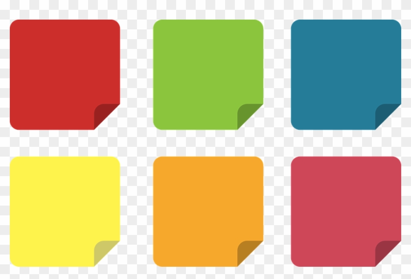 Free Photo Set Icons Office Icon Post It Yellow Sticky - Post It Note Icon #427235