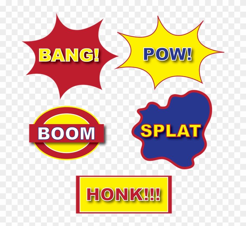 Batman Pow Font - Blank Comic Book: Big Top Acion Comic Pages #427330