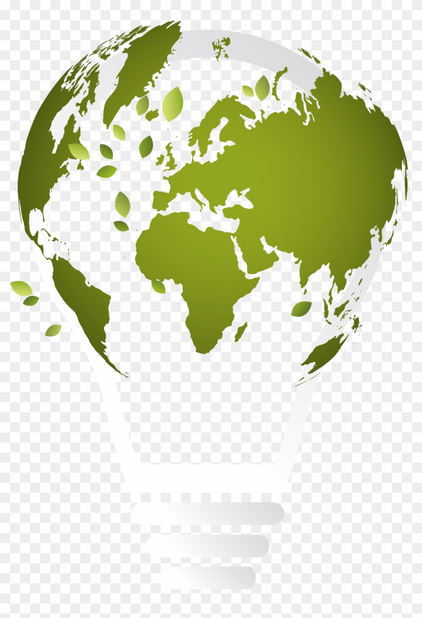Globe World Map Illustration - Open Book Earth Logo #427481