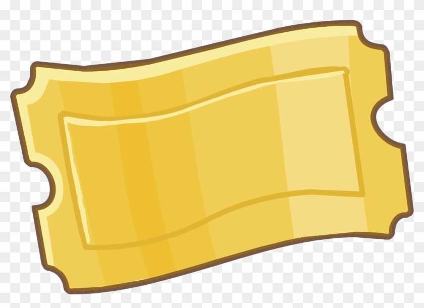 Ticket Game Clip Art - Gold Ticket Png #427546