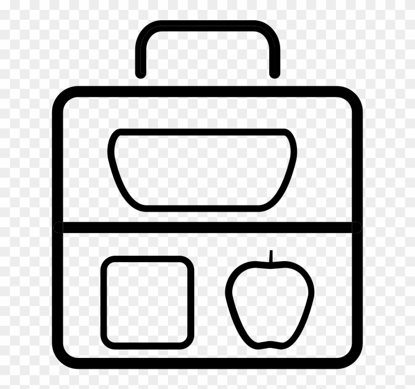 Lunch Box Coloring Page - Lunch Box Para Colorear - Free Transparent ...