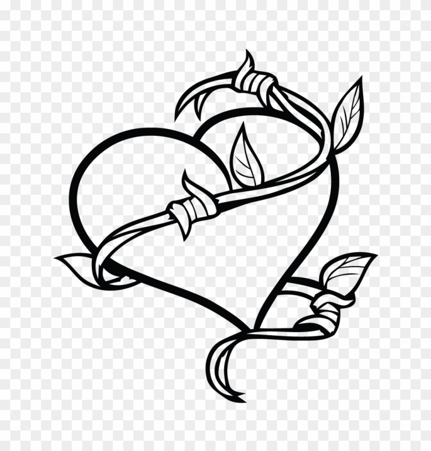Heart Vine Decal - Easy To Draw Tattoos #427783