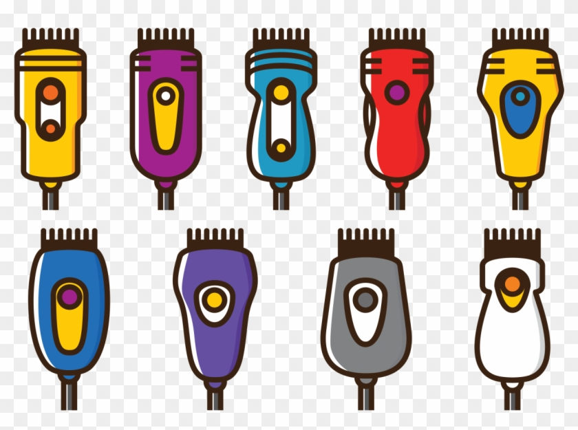 Vector Hair Clippers Icons Hair Clipper Cartoon Free Transparent Png Clipart Images Download