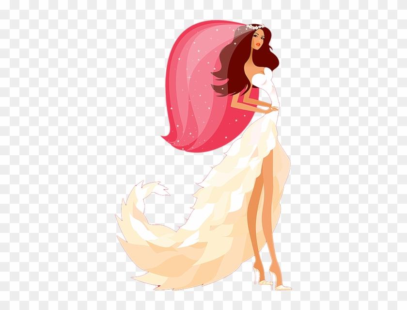 Bridal Hairstyles & Bridal Makeup - Bride Vector #428439