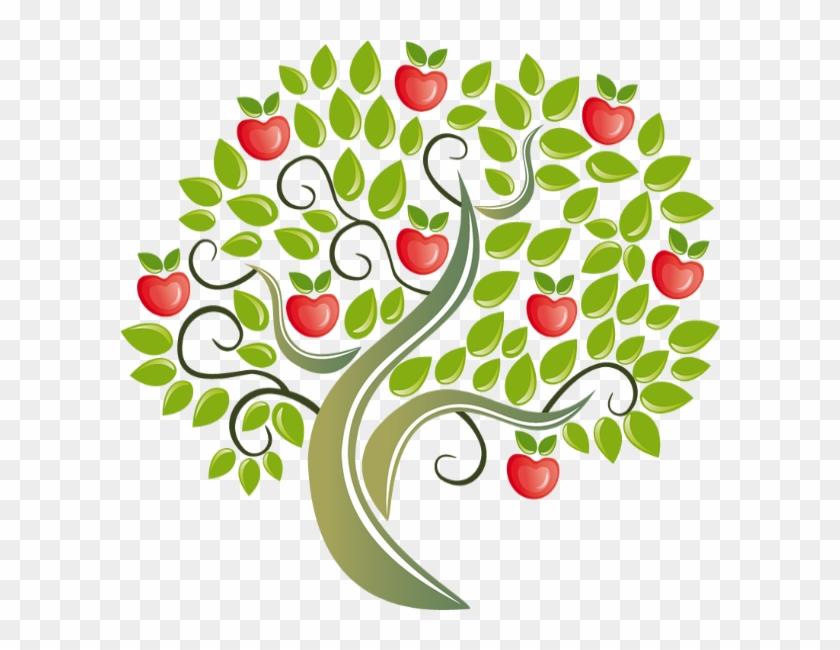 Apple Tree Tote Bag, Adult Unisex, Natural #428608