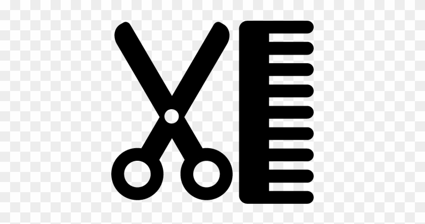 hair scissors and comb vector scissors and comb icon free