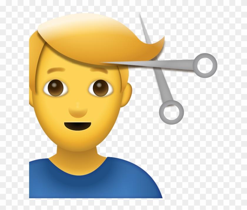 Man Getting Haircut Iphone Emoji Jpg Mens Haircut Emoji Free
