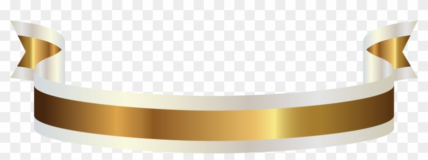 Gold And White Banner Png Clipart Picture - White & Gold Ribbon Png #429116