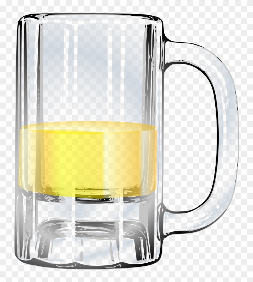 Glass Of Beer Clip Art On Free Clipart Images Clipartix - Half Empty Beer Glass #429286