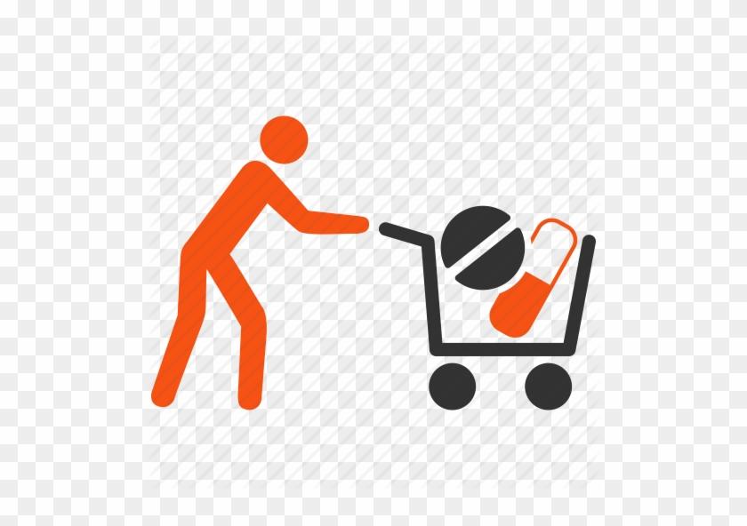 Search Clip Art Add, Bag, Basket, Business, Buy - Medical Shopping Cart #429576