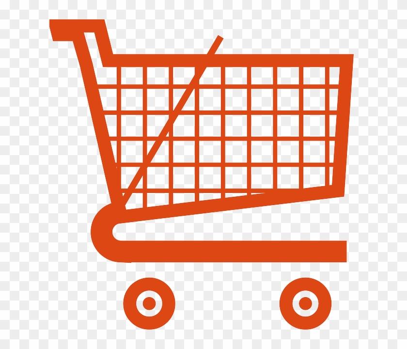 Amazon Shopping Cart, Cart, Ecommerce, Shopping, Amazon - Orange Shopping Cart Icon #429660