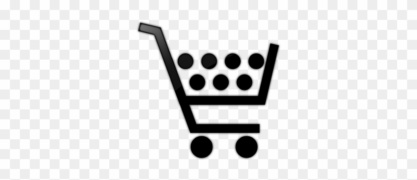 080701 Glossy Black Icon Business Cart 7dots - Shopping Cart Icon #429664