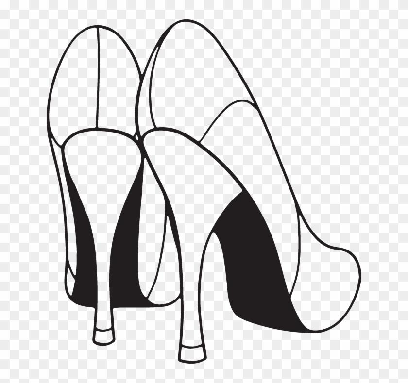 Copy Of 95ra High Heels Clipart Black And White Free Transparent