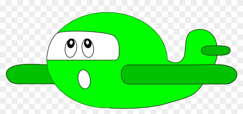 Airplane Green Cartoon Child Png Image - Happy Airplane Clipart #429722