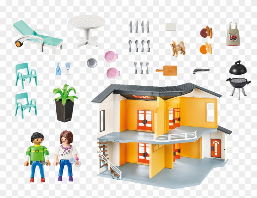 Http Media Playmobil Com I Playmobil 9266 Product Playmobil Maison Moderne 9266 Free Transparent Png Clipart Images Download