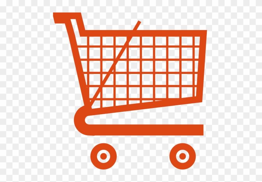 Shopping - Orange Shopping Cart Icon #430006