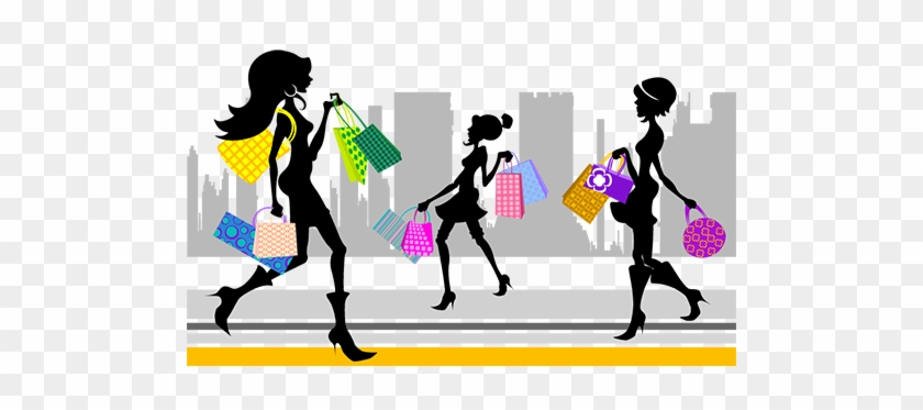 Women With Shopping Bags Vector Set Free People Vectors - Fashion Shopping Girl Vector #430098